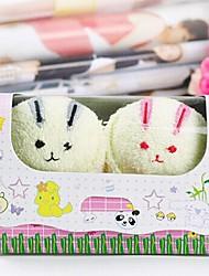 Недорогие -подарок на день рождения кролика форма волокна творческой полотенце (случайный цвет) (2 шт / комплект)