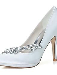 cheap -Women's Spring Summer Fall Winter Satin Wedding Party & Evening Stiletto Heel Black Blue Pink Purple Ivory White Silver