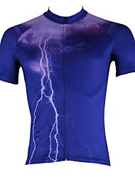 ILPALADINO Cycling Jersey Men's Short Sleeves Bike Jersey Top Quick Dry Ultraviolet Resistant Breathable 100% Polyester Nature &