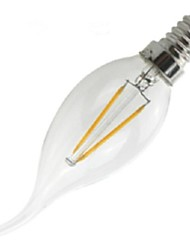 2W E14 Ampoules à Filament LED CA35 2 COB 200 lm Blanc Chaud 2800-3200 K Intensité Réglable Décorative AC 100-240 V