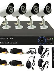 abordables -twvision® 8ch canal 960H HDMI DVR CCTV 4x 800tvl extérieure système de caméra de sécurité