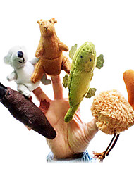 cheap -Animal Finger Puppets Puppets Cartoon Textile Plush Cute Animals Lovely Novelty Girls' Boys' Gift