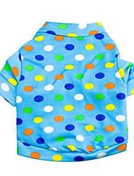 baratos -ponto onda t-shirt padrão terylene para cães (xs azul-l)