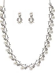 Žene Imitacija Pearl Umjetno drago kamenje Vjenčanje Legura Füllbevalók Ogrlice