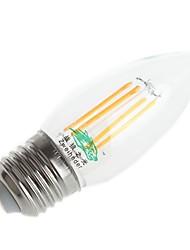 4W E26/E27 LED Filament Bulbs C35 4 Dip LED 250-300lm Warm White Cold White 3000-3500K / 6000-6500K Decorative AC 220-240V