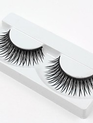 cheap -Hot Sale 1 Pairs Natural Black Long Thick False Eyelashes Eyelash Eye Lashes for Eye Extensions