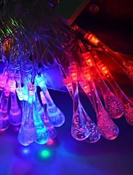 Недорогие -5m 28 leds rgb led водяные капли шнур свет шнурок свет для украшения (ac 220-240v) 1 комплект