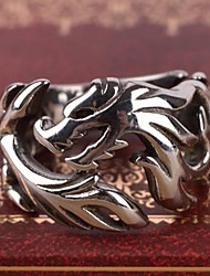 cheap -Men's Stainless Steel Ring Band Ring - Dragon Personalized Vintage Casual European Silver Ring For Gift