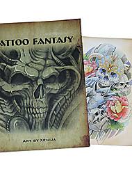 abordables -motif crâne pour le livre de tatouage