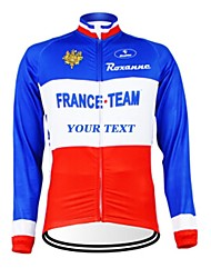 cheap -Kooplus Men's Women's Unisex Long Sleeves Cycling Jersey Bike Jersey Text Color 6# Text Color 7# Text Color 8# Text Color 9# Text Color