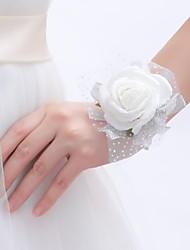 abordables -Fleurs de mariage Petit bouquet de fleurs au poignet Mariage Fête / Soirée Mousse 10cm