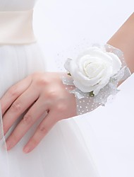 economico -Bouquet sposa Braccialetto floreale Matrimonio Party /serata Schiuma 1 cm ca. 10 cm ca.