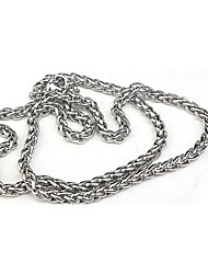 Недорогие -мода простой титана стали ожерелья цепи мужские