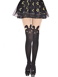 cheap -Socks / Long Stockings Thigh High Socks Sweet Lolita Dress Lolita Women's Lolita Accessories Animal Rabbit / Bunny Stockings Velvet Halloween Costumes / High Elasticity