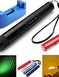 cheap -LT-303 Burning  Green Laser Star Cap (4MW.532nm.1X18650.Multicolor)