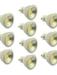 abordables -5W GU10 Spot LED 1 COB 400-450 lm Blanc Chaud / Blanc Froid / Blanc Naturel Gradable AC 100-240 / AC 110-130 V 10 pièces