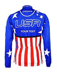 Kooplus Cycling Jersey Men's Women's Unisex Long Sleeves Bike Jersey Top Waterproof Zipper Wearable Breathable Reflective Strips Polyester