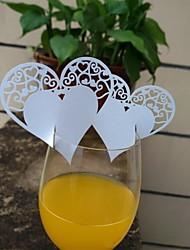 papel de pérola cartões de lugar 10 clipes de marcadores de placar recepção de casamento