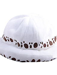 cheap -Hat/Cap Inspired by One Piece Trafalgar Law Anime Cosplay Accessories Cap / Hat White Terylene Male