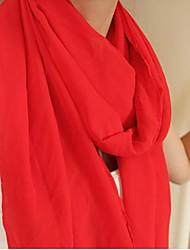 puras lenços cor chiffon das mulheres