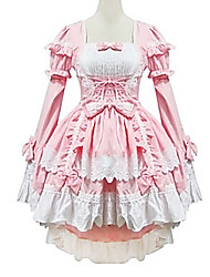 Fancy Dress Sexy Japaness Lolita Maid Suits Lovely Sweet Lolita Princess Cosplay Lolita Dress Patchwork Long Sleeve Lolita Dress For Women Cotton