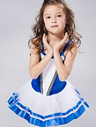 cheap -Kids' Dancewear Dresses&Skirts Tutus Spandex Chiffon Velvet Sleeveless