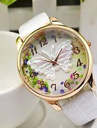 Недорогие -Жен. Модные часы Наручные часы Кварцевый сплав Группа Аналоговый Бабочка Черный / Белый / Синий - Красный Зеленый Синий