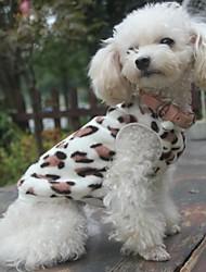 Katze Hund Pullover Pyjamas Hundekleidung Lässig/Alltäglich Leopard Schwarz Kostüm Für Haustiere
