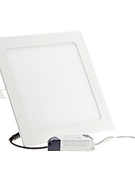 cheap -ZDM® 1pc 18W 90 LEDs Recessed / Easy Install LED Panel Lights / LED Downlights Cold White 6000-6500K 85-265V Mount Hole 210mm
