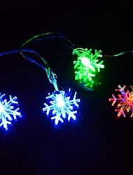 cheap -4.5M 28LED Home Decoration Snowflake Colorful Decorative String Lights