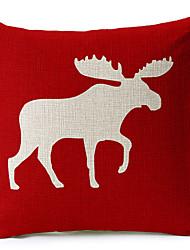 1 pçs Algodão/Linho Cobertura de Almofada,Estampa Animal Moderno/Contemporâneo