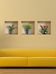 abordables -3D Pegatinas de pared Calcomanías 3D para Pared Calcomanías Decorativas de Pared,Vinilo Decoración hogareña Vinilos decorativos For Pared