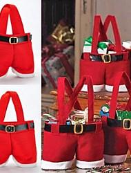 1 stk 22 * 15cm santa claus bukser slik taske hjem dekoration opbevaringstaske