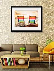 cheap -Framed Canvas Framed Set Landscape Wall Art, PVC Material With Frame Home Decoration Frame Art Living Room Bedroom Kitchen Dining Room