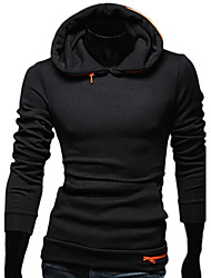 cheap -REVERIE UOMO Men's Black Korean Slim Fit Hoodie Casual Fashion Hoodie