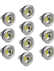 abordables -5W GU5.3(MR16) Spot LED 1 COB 400-450 lm Blanc Chaud / Blanc Froid / Blanc Naturel Gradable DC 12 V 10 pièces