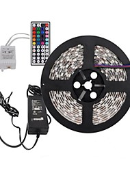 cheap -5m Flexible LED Light Strips / Light Sets / RGB Strip Lights LEDs 5050 SMD 1 44Keys Remote Controller / 1 X 5A power adapter Cuttable / Linkable / Self-adhesive 100-240 V / IP65