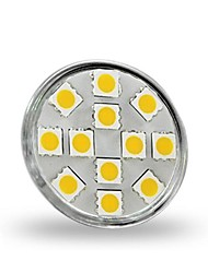 cheap -1.5W GU4(MR11) LED Spotlight MR11 12 leds SMD 5050 Decorative Warm White 130-150lm 2800-3200K DC 12V
