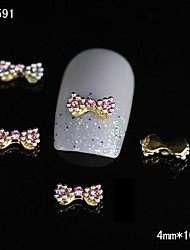billige -10stk mode guld legering butterfly 3d nail tips Rhinestone DIY nail art dekoration