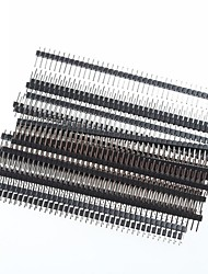 1 x 40 Pin 2.54mm Pitch Single Row Right Angle PCB Pin Headers (20pcs)