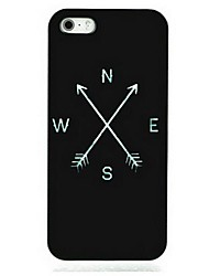 cheap -Black Compass Pattern Hard Case for iPhone 7 7 Plus 6s 6 Plus SE 5s 5