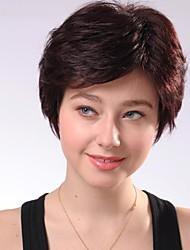breve castagno senza cappuccio marrone ricci parrucche dei capelli umani