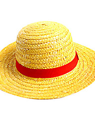cheap -Hat/Cap Inspired by One Piece Monkey D. Luffy Anime Cosplay Accessories Hat Cap Straw Rope Men's