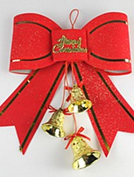 Christmas Tree Decoration Supplies Red Butterfly Knot 10 CM