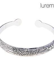 Lureme®Flowers Pattern Bracelet Cuff