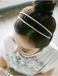 Lureme® Korea Style Beautiful silk knitting double Headband(Random Color)