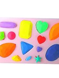 diamantes em forma de cozimento fondant bolo de choclate molde doces, l10.1cm * w7cm * h1cm
