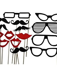 Wedding Décor 15pcs DIY Photo Booth Props Lips Mustache On A Stick  Birthday Party Fun Favor