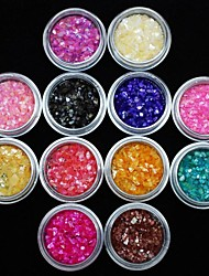 billige -12 pcs Negle smykker Frugt / Blomst / Abstrakt Smuk Daglig Nail Art Design / Akryl / Tegneserie / Punk