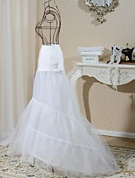 cheap -Wedding Slips Spandex Tulle Netting Floor-length Mermaid and Trumpet Gown Slip With